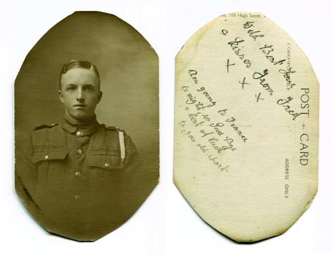 Fred Pegge, went to war in 1915 never returned