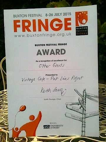 Buxton Fringe Certificate