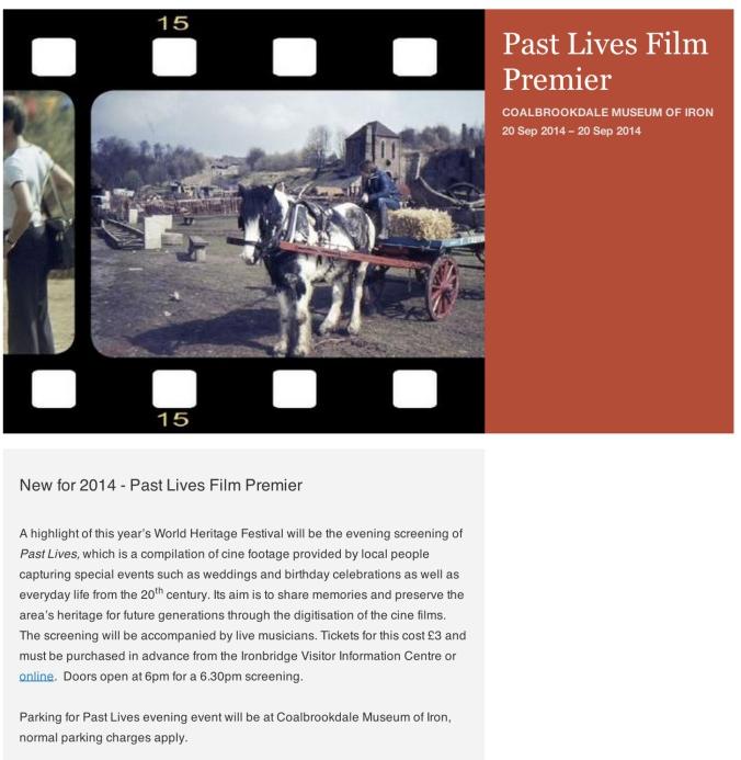Ironbridge Past Lives Project tickets